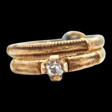 Vintage 10K Yellow Gold Wedding Bands Charm