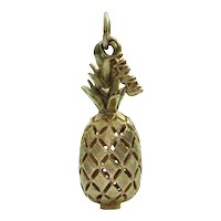 Vintage 14K Yellow Gold Pineapple Charm