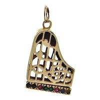 Vintage 14k Yellow Gold Grand Piano Charm