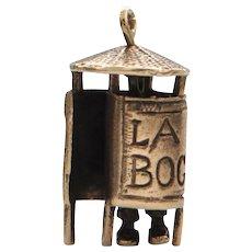 Vintage English 9k Man in 'La Bog Pissoir' Charm