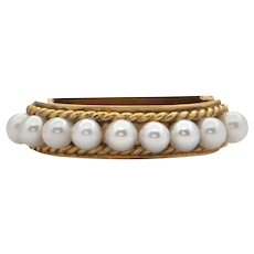 Vintage 'Vack' Gold and Pearl Necklace Shortener Clasp