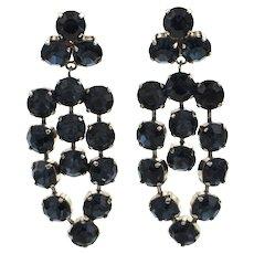 German Costume Clip On Chandelier Earrings