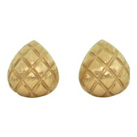 Vintage 18K Yellow Gold Clip On Earrings