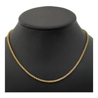 Vintage 22K Yellow Gold Fancy Link Chain