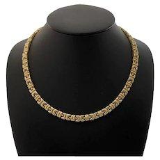 Italian Gold Fancy Link Choker Necklace