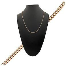 """Vintage 25"""" Italian Curb Link Gold Necklace"""