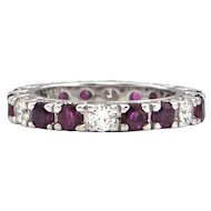 1.8 CT Ruby and 0.72 CT Diamond Eternity Band