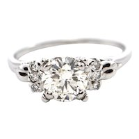 1.28 CT Art Deco Diamond Ring C. 1930 - GIA Certified