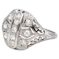 0.45 ct Art Deco Diamond ring 18k Circa 1920