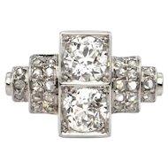 1.60 ct Platinum Art Deco Diamond Ring Circa 1920