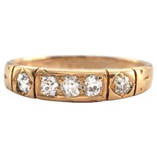 Antique 18K Yellow Gold and 0.33ct Diamond Ring C.1900