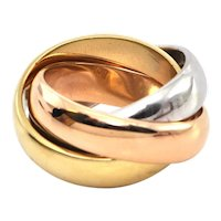 Cartier Vintage 18k Gold LM Trinity Ring Circa 1973 London
