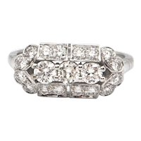 0.91CT Diamond and 18K White Gold Ring