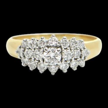 Vintage Birks 0.88ct Diamond 18k Yellow Gold Ring