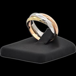 Vintage 18K Tri-Color Trinity Ring