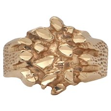 Brutalist Style Gold Ring