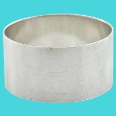 Sterling Silver Napkin Ring C. 1930 Robert Pringle & Sons, England