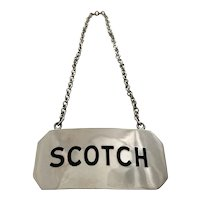 Vintage Sterling Silver 'Scotch' Ryrie Bro. Bottle Tag