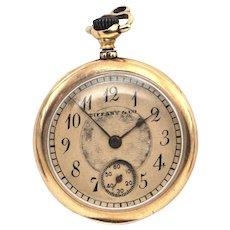 Antique 18K Enamel Tiffany Pocket Watch c.1906