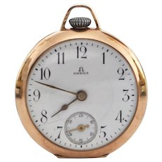 Antique 'Omega' 14K Yellow Gold 'Grand Prix Paris 1900' Pocket Watch