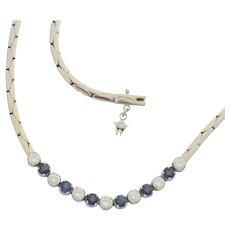 Boodles Sapphire Diamond 18k Gold Necklace