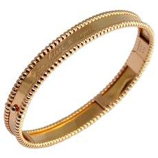 Van Cleef & Arpels Perlée 18k Gold Bracelet