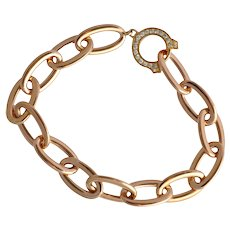 """C"" de Cartier 18k Rose Gold Bracelet"