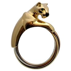 Cartier 18k Gold Panther Ring