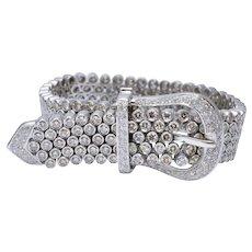 Diamond 18k Gold Belt Bracelet
