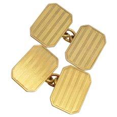 Art Deco Rectangular Gold Cufflinks