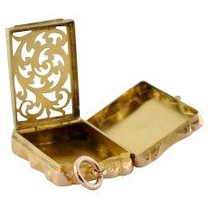 Antique Victorian 15k Gold Vinaigrette