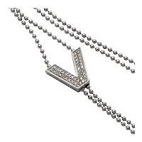 Versace V Divine Diamond 18k Gold Necklace