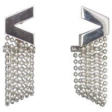 Versace V Divine 18ct White Gold Earrings