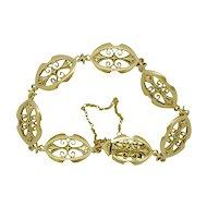 Antique French 18ct Gold Filigree Bracelet