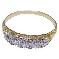 Victorian Diamond 18k Gold Engagement Ring