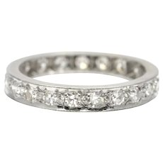Diamond and 18k White Gold Eternity Ring