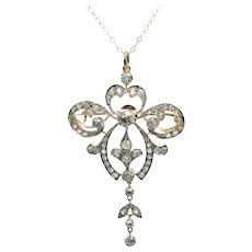 Belle Epoque Diamond Gold Pendant