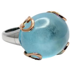 Chimento Cabochon Topaz 18k Gold Ring