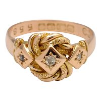 Edwardian Lovers Knot 18k Gold Ring