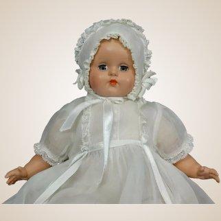 """Minty"" Mdme Alexander Hard Plastic Baby w/ Sleep Eyes & Original Tagged Outfit"
