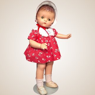 Vintage Composition Patsy Ann Doll by Effanbee w/ Tagged Dress