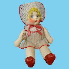 """""""Minty"""" Vintage Mask Face & Cloth Doll by Atlanta Plaything Co. (At-Play Toys)"""