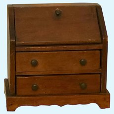 Antique Miniature Wooden Desk - GREAT for Dolls or Display!