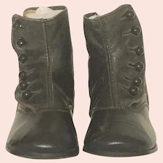 FABULOUS Large Pair of Antique Children's Button-Up Boots Two-Toned
