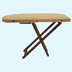 Vintage Doll House Wooden Folding Ironing Board