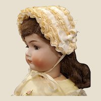 Vintage Doll Bonnet for French or German Bisque Doll