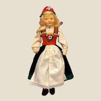 Vintage Ronnaug Petterssen Cloth Doll in Original Hardanger Costume