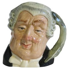"Royal Doulton 4"" Toby Character Jug ""The Lawyer"" D6504"