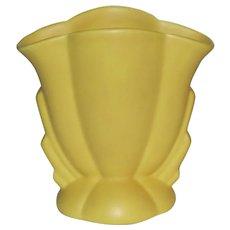 "Bauer Pottery Cal Art Ray Murray 5 1/4"" Matte Yellow Art Deco Vase"