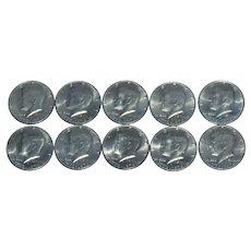 1976 Kennedy Bicentennial Half Dollar Ten Coin Lot